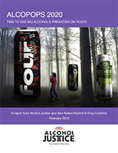 Alcopops 2020 - a new report on the high-sugar, high-alcohol carbonated beverages that target youth