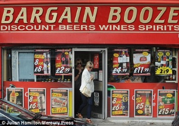 Cheap alcohol at a UK off-license